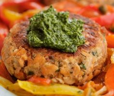 Pink Salmon Cakes with Cilantro Pesto recipe - just one of 20 diabetic-friendly blender dishes, dips, drinks and desserts.  #blenderrecipes #diabeticfriendly #healthyrecipes  http://www.diabeticconnect.com/diabetes-slideshows/267-diabetic-friendly-blender-beauties   edamame-ginger dip sounds great. So do the grilled sea scallops with cilantro black bean sauce. mmmm.