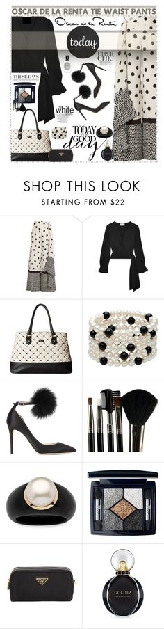 """""""Getting Classy with Oscar"""" by polyvore-suzyq ❤ liked on Polyvore featuring Oscar de la Renta, 3.1 Phillip Lim, Betsey Johnson, Jimmy Choo, Glamour Status, Palm Beach Jewelry, Christian Dior, Prada, Bulgari and Diptyque"""