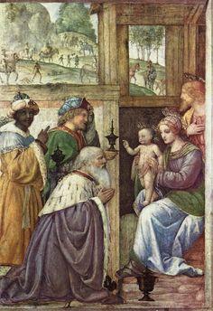 [Renaissance] Adoration of the Magi by Bernardino Luini High Renaissance, Marcel Proust, Three Wise Men, Italian Painters, Art Database, Stock Art, Old Master, Art Images, Portrait