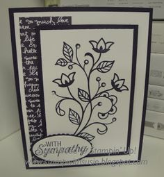 Stampin' Up!- This is a beautiful new set called 'Flourishing Phrases'!