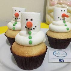 Cupcake muñeco de nieve | Navidad 2015 | Postrería