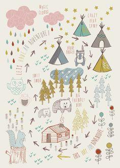 whimsical illustration for nature boy Rauf #laffichemoderne