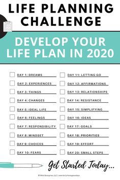 Get started today developing your life plan for You'll be so glad you did! Goals Planner, Planner Pages, Life Planner, Happy Planner, Calendar Organization, Life Organization, Organizing Life, Affirmations, Goal Setting Worksheet