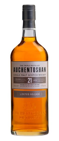 Auchentoshan 21 Year Old - Lowland Single Malt Whisky, ripe with gooseberries, sweet creamy vanilla, a hint of oak, warm honey