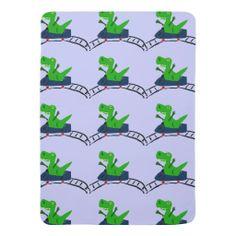 T-Rex Dinosaur on Roller Coaster Baby Blanket #dinosaurs #baby #blankets #rollercoasters #art And www.zazzle.com/naturesmiles*