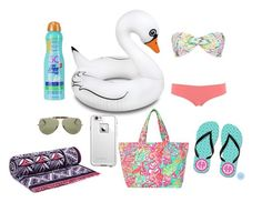 """""""Fun"""" by anneke-marie ❤ liked on Polyvore featuring beauty, Kiss My Face, Tory Burch, Big Mouth, Ray-Ban, Mara Hoffman, Calipige, LifeProof and Lilly Pulitzer"""
