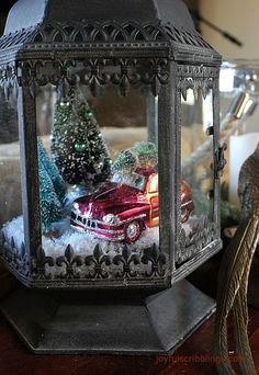 Miniature home for the holidays