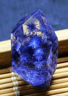 Dumortierite Quartz Minerals And Gemstones, Rocks And Minerals, Natural Crystals, Stones And Crystals, Mineral Stone, Rocks And Gems, Healing Stones, Nature, Quartz