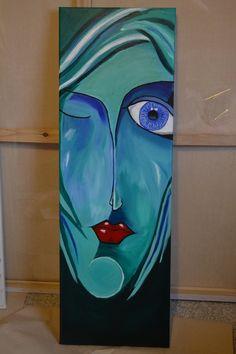 Blue Acryl 30x90