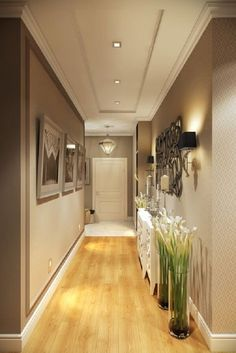 Astonishing Home Corridor Design For Your Home Inspiration - Ceiling design Hallway Ceiling, Hallway Light Fixtures, Home Ceiling, Hallway Lighting, Entry Hallway, Ceiling Ideas, Entrance Hall, House Ceiling Design, Ceiling Design Living Room