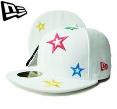 【ニューエラ】【NEW ERA】59FIFTY STAR SERIES ホワイトxマルチカラー アンダーバイザー【CAP】【newera】【スター】【帽子】【星】【ノンチーム】【ピンク】【MULTI COLOR】【白】【GOLD】【キャップ】【あす楽】【楽天市場】