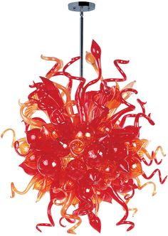 A bouquet of hand-formed flowers and buds of glass artfully light the room in the Mimi LED collection. Each glass sculpture is available in four color options of Cognac, Fume, Sunrise, and Root Beer. Polished Chrome hardware is used to reflect the beauty of this colorful lighting. Light is created by means of a long-life and energy-efficient LED light source