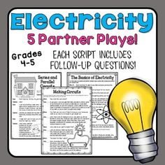 Electricity Partner Plays: Students improve fluency while reviewing science content!