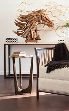 palecek driftwood horse head - this + that - accessories