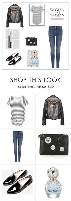 """""""Gucci  Tiger leather jacket"""" by gabriela2105 ❤ liked on Polyvore featuring Splendid, Gucci, 7 For All Mankind, Topshop, Balmain, Marc Jacobs and MAC Cosmetics"""