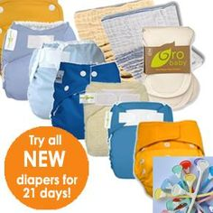 try various brands of cloth diapers for 21 days ... return the ones you don't like or keep them :)