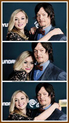 The Walking Dead - Emily Kinney - Beth Greene and Norman Reedus - Daryl Dixon