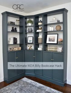 Thoughts On Effortless Secrets In Easy Living Room Decor Ideas - Friend Decorates Living Room Bookcase, Corner Bookshelves, Living Room Decor, Ikea Living Room Storage, Bookshelf Design, Bathroom Storage, Billy Ikea Hack, Ikea Billy Bookcase Hack, Billy Bookcases