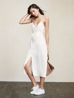 For your consideration, the wrap dress. With the Charlotte Dress you can adjust the tightness to fit your day, 'cause let's face it, we have bloated days and skinny days. https://www.thereformation.com/products/charlotte-dress-luminous?utm_source=pinterest&utm_medium=organic&utm_campaign=PinterestOwnedPins