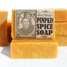 Pumpkin Pie Soap, Handmade, All Natural, Real Pumpkin, Spice EOs   appalachianheritagesoaps - Bath & Beauty on ArtFire