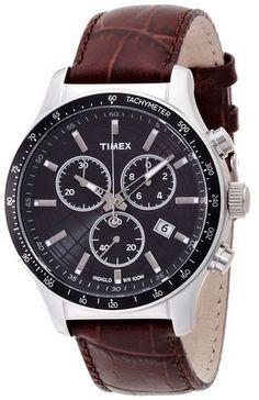 cool Men's T2N819 Brown Leather Quartz Watch with Black Dial - For Sale Check more at http://shipperscentral.com/wp/product/mens-t2n819-brown-leather-quartz-watch-with-black-dial-for-sale/