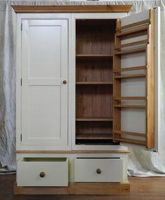 Larder cupboard Kitchen Larder, Larder Cupboard, Panty Design, Alcove Cupboards, Kitchen Ideas, Kitchen Decor, Ferry, Victorian Kitchen, Kitchen Family Rooms