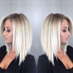 frisuren dünnes haar Women's Fashion Bob Hair Ombre Blonde Straighr Wigs for White Women Full Wig Cosplay Party Wig Cplor:(one Color) Platinum Hair Color, Ombre Hair Color, Blonde Ombre, Hair Color Balayage, Blonde Balayage, Short Platinum Hair, White Ombre Hair, Blonde Highlights, Blonde Wig