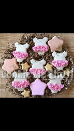 Tutu Cupcakes, Baby Shower Cupcakes, Shower Cakes, Fancy Cookies, Cute Cookies, Sugar Cookies, Heart Cookies, Valentine Cookies, Easter Cookies