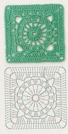 Transcendent Crochet a Solid Granny Square Ideas. Inconceivable Crochet a Solid Granny Square Ideas. Motifs Granny Square, Crochet Motifs, Crochet Blocks, Granny Square Crochet Pattern, Crochet Diagram, Crochet Chart, Crochet Squares, Crochet Patterns, Granny Squares