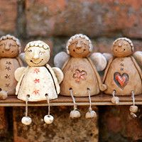 Christmas Angels, Christmas Crafts, Christmas Ornaments, Xmas, Clay Projects, Clay Crafts, Ceramic Pottery, Pottery Art, Clay Angel