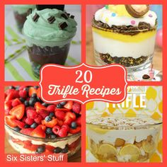 A great roundup of 20 delicious trifle recipes
