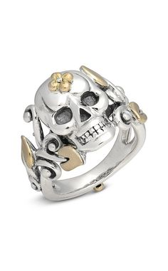 Roses Never Die Medium Skull Ring – Diamond – Barbara Bixby