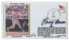 Larry Bowa Phillies Signed 1980 World Series Gateway First Day Cover SI