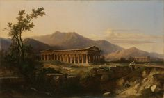 The Temple of Poseidon in Paestum Jules Coignet