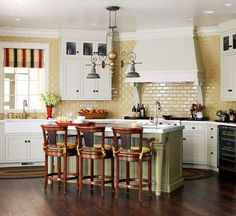 Kitchen with Yellow Tile