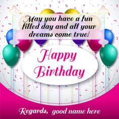 Do Want To Bring A Big Smile Your Lovers Face By Sending Of Wishes Birthday Card Happy Greeting With Lover Name On Send Personal