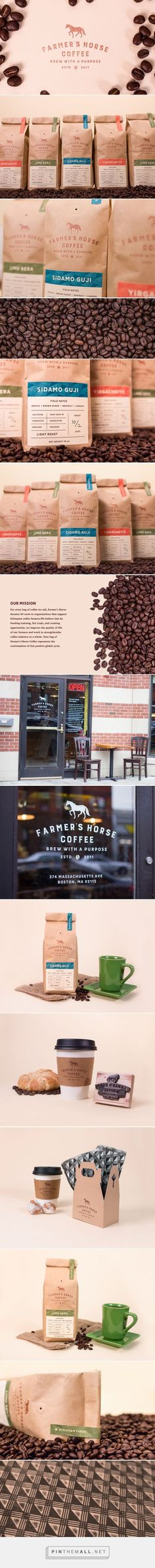 Farmer's Horse Coffee - Packaging of the World - Creative Package Design Gallery - http://www.packagingoftheworld.com/2016/11/farmers-horse-coffee.html