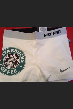 Nike pro I cannot find these anywhere.have a feeling they were custom. I need these nike pros Starbucks Nike Pro Spandex, Nike Pro Shorts, Soccer Shorts, Spandex Shorts, Nike Outfits, Cheer Outfits, Cheer Clothes, Volleyball Clothes, Volleyball Spandex