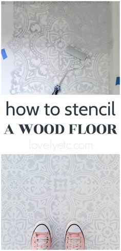 This gorgeous stenciled porch floor is an inexpensive flooring solution that any DIYer can create. Step-by-step tutorial with video. Painted Porch Floors, Painted Plywood Floors, Plywood Subfloor, Old Wood Floors, Porch Flooring, Diy Flooring, Laminate Flooring, Flooring Ideas, Stencil Wood