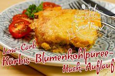 Low-Carb Kürbis-Blumenkohlpüree-Hack-Auflauf - Kürbis küsst Blumenkohl. Ein hammergeiles Low-Carb Rezept für jeden Geschmack.