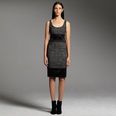 This dress is just right for a holiday party at work. Narciso Rodriguez for DesigNation pieced dress #KohlsDreamLooks
