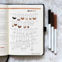 Mushrooms are such a great bullet journal theme for autumn months! As we see them sprouting up more and more. So here are adorable mushroom themes to get you started! Bullet Journal Tracker, Bullet Journal Wishlist, Bullet Journal Doodles, Bullet Journal Quotes, Bullet Journal Inspo, Bullet Journal Layout, Bullet Journal Ideas Pages, Junk Journal, Bullet Journal September