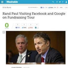 http://mashable.com/2013/05/28/rand-paul-facebook-google/ Rand Paul Visiting Facebook and Google on Fundraising Tour | #Indiegogo #fundraising http://igg.me/at/tn5/