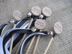 Wedding Wand Favors - SET OF 10 Happily Ever After Wedding Wands for Bride and Groom Send Off - 2 Ribbons Each - Item 1025 Wedding Gifts For Bride And Groom, Wedding Send Off, Wedding Groom, Wedding Pics, Bride Gifts, Dream Wedding, Wedding Ideas, Wedding Fun, Wedding Things