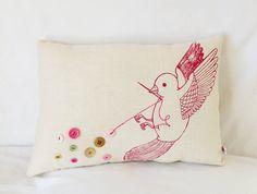 Bouton oiseau oreiller
