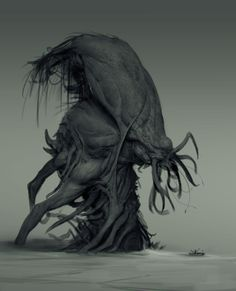 Monster Concept Art Horror Cthulhu 40 New Ideas Monster Concept Art, Game Concept Art, Fantasy Monster, Dark Creatures, Alien Creatures, Fantasy Creatures, Lovely Creatures, Creature Concept Art, Creature Design