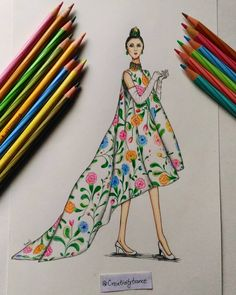 ✔ Fashion Sketches Dresses Floral Prints - ✔ Fashion Sketches Dresses Floral Prints Source by - Dress Design Drawing, Dress Design Sketches, Fashion Design Sketchbook, Fashion Design Portfolio, Fashion Design Drawings, Fashion Sketches, Dress Designs, Dress Illustration, Fashion Illustration Dresses