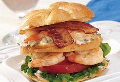Recipe for: Grilled Shrimp Club Sandwich