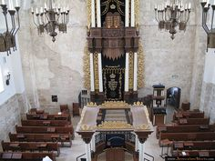 the beautiful rebuilt Churvah Synagogue Synagogue Architecture, Religious Architecture, Mosques, Cathedrals, Jewish Temple, Promised Land, Place Of Worship, Holy Land, Judaism