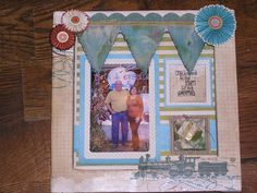 "scrapbooking on canvas | Scrapbook page"" done on the inside of a chunky canvas by Canvas Corp ..."